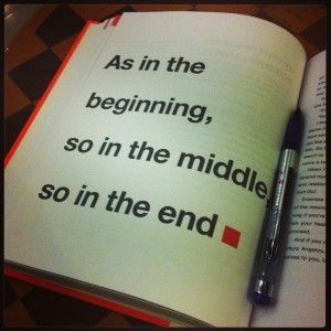 Musing #1: Beginning in the Middle